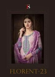 Deepsy Florent Vol-23 Cotton Embroidery Work Pakistani Style Suits Catalog
