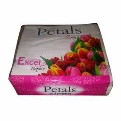 White Petals Excel Facial Tissue Paper Napkin