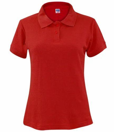 fea0124acb6fc Cotton Half Sleeve Ladies Collar Neck T Shirt