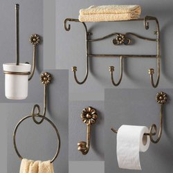 Brass Golden Bathroom Accessories, Size: Medium