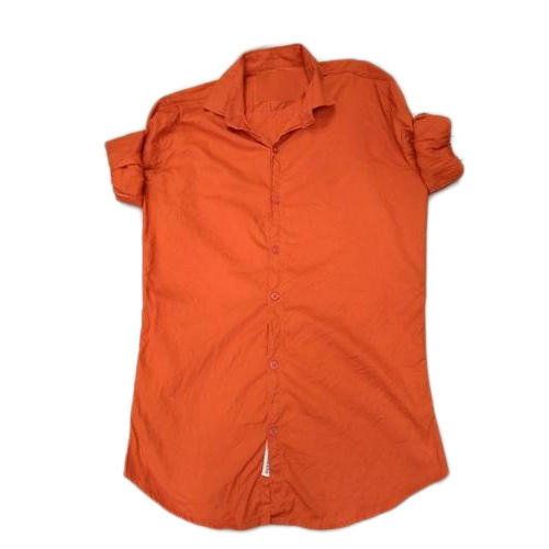 516207ce Regular Fit Plain Mens Orange Cotton Shirt, Rs 220 /piece | ID ...