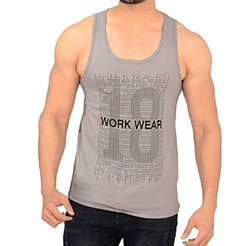 Aesthetic Apparels Cotton/Linen Mens Printed Gym Vest, Size: 80-85 (cm)