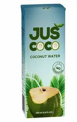 Cloudy White Juscoco 100% natural coconut water, Packaging Size: 200 ml, Packaging Type: Tetra Pack