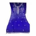 Ladies Blue Embroidered Designer Suit