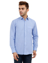 Mens Sky Blue Color Plain Shirt