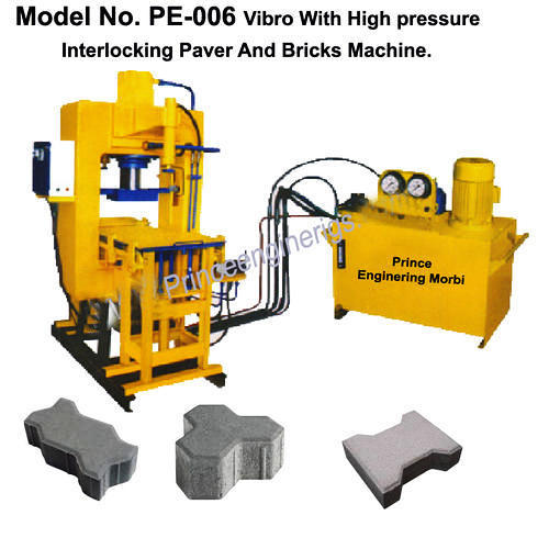 Vibro With High Pressure Paver Blocks And Bricks Machine.