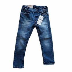 Regular Fit Button Trendy Denim Jeans, Waist Size: 28 And 32