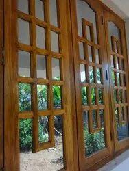 Natural Wooden Modern Window