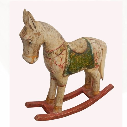 Wooden Rocking Horse Statue