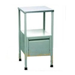 Trio Ivory Bed Side Locker SS Top ( Table) For Hospital