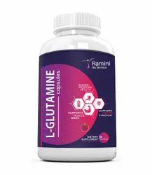 L-Glutamine 500 Mg 90 Veg Capsules, Packaging: HDPE Jar