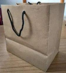 Golden Shopping Bag for Mobile & Bakery Store
