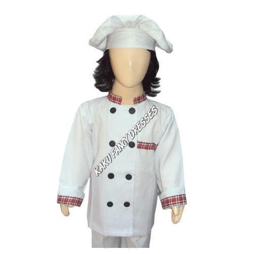 white kids chef costume rs 700 piece kaku fancy dresses id 14848111473. Black Bedroom Furniture Sets. Home Design Ideas