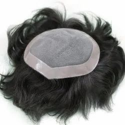 Human Hair Mens Patch and Toupee 9X6