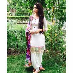 Party Wear Pramukh Fancy Georgette Kurtis, Dry clean