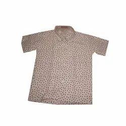 Cotton Kids Printed School Uniform Shirt