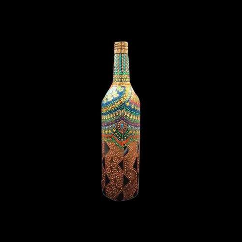 Hand Painted Decorative Lighting Glass Bottles- Bottle Art