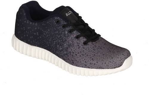 2dfe395e8d2 Canvas Lace-Up Black & Grey Casual Sports Shoes, Size: 6 To 10, Rs ...