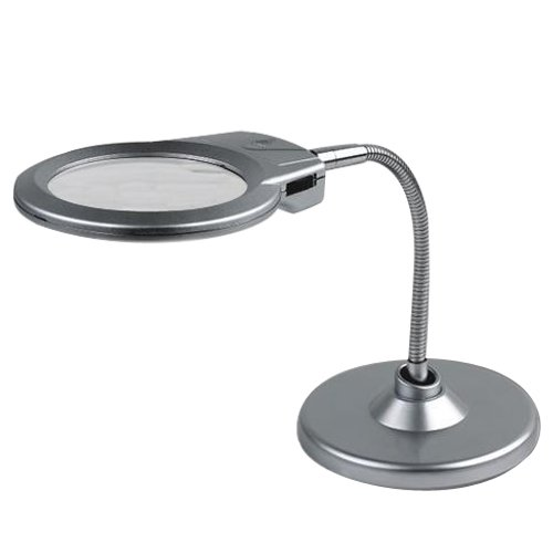 Silver Magnifying Gl With Stand Light Lens Diameter 22 107mm