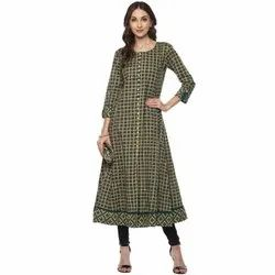 Yash Gallery Flared Teal Womens Anarkali Kurta