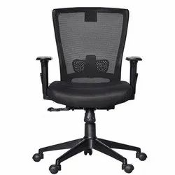 Fabric Black Fonzel 1820109 Medium Back Office Chair