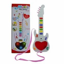 Pink Plastic Music Mini Guitar, for Personal, 0-3 Yrs