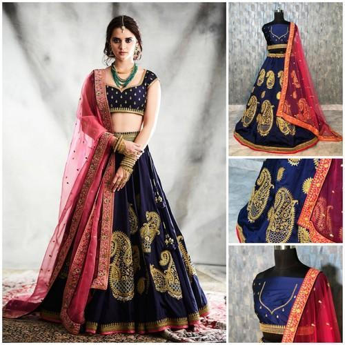 2c125943cc Ladies Designer Embroidered Semi-Stitched Lehenga Choli, Rs 1600 ...