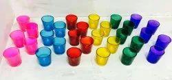 Short Glass Tealight Holders