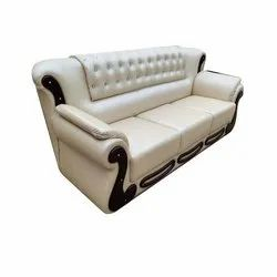 Leather Three Seater Office Sofa