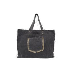 Denim Black Tote Bags