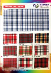 Polyester Cotton Student Check Fabric