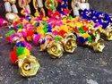 Multicolor Pom Pom Mirror Garlands