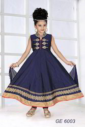 Embroidered Anarkali Suit For Girls
