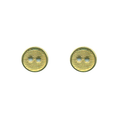 Round Golden Metal Button, For Shirt, Packaging Type: Polypack