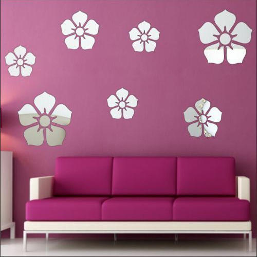 3d acrylic wall sticker flower, packaging type: packet, rs 399