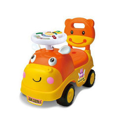 Plastic Cartoon Push Car Toy, For Personal And School/Play School