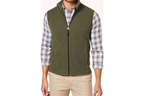 look for new high quality detailed images Men Small & Medium S Fleece Sleeveless Jacket Green, Rs 499 /piece ...