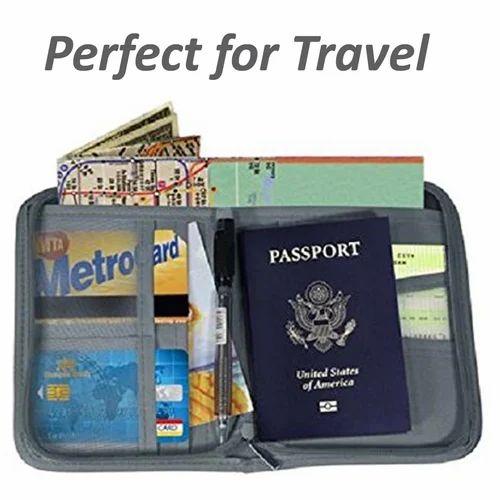 5affe4c68050 Sleek Travel Passport Organizer Wallet with Zip