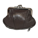 Plain Small Leather Change Purse