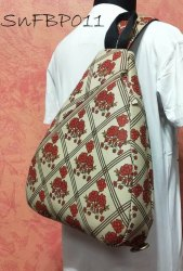 Cotton Fabric Shoulder Backpack Bag, Bag Capacity: 7-8 Kgs