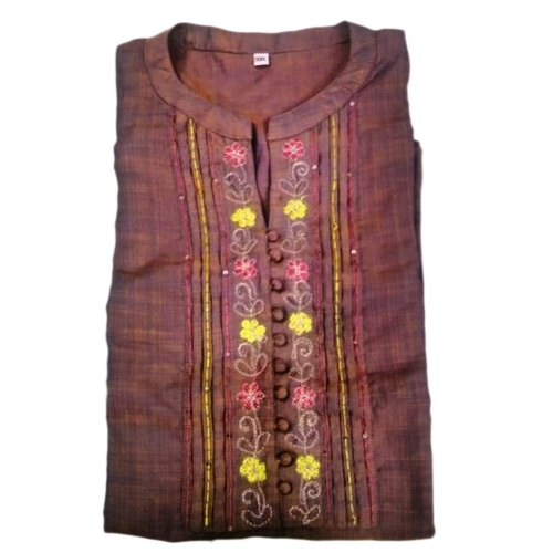 Cotton Party Wear Ladies Designer Embroidered Kurti