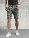 Green And Grey Men's Shorts