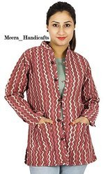 Ladies Block Printed Cotton Jacket