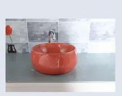 Koalar Plain Pink Bathroom Wash Basin