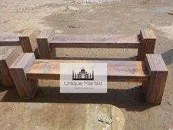 Rainbow Sanstone Bench Without Back Rest