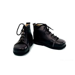 Black Flat Foot Orthopedic Shoes, Size