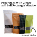 Plain Paper Stand Up Bags With Zipper