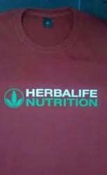 Polyester Printed Herbalife T Shirt, Size: Large