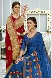 Designer Party Wear Georgette and Chiffon Sarees