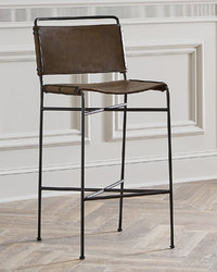 Industrial Leather Bar Stool, Industrial Bar Furniture